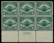 #C  4 VF/XF OG NH, nice and fresh bottom plate,  SUPER COLOR!
