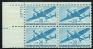 #C 30 F-VF OG NH (or better) Plate Block of 4 (stock photo - position and plate number collectors - please inquire for special requests)