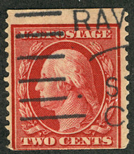 # 353 F/VF, tall stamp with the correct cancel, rare genuine stamp!