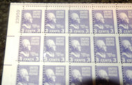 # 807 3c Jefferson, MISPERFED, NH, Choice Freaky Sheet