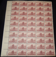 #1063 3c Lewis and Clark, F-VF NH or better,  FULL SHEET, post office fresh, STOCK PHOTO