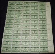#1065 3c Land Grant Colleges, F-VF NH or better,  FULL SHEET, post office fresh, STOCK PHOTO