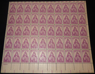 #1087 3c Polio Issue, F-VF NH or better,  FULL SHEET, post office fresh, STOCK PHOTO