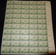 #1108 3c Gunston Hall, F-VF NH or better,  FULL SHEET, post office fresh, STOCK PHOTO