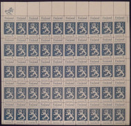 #1334 5c Finish Independence, F-VF NH or better,  FULL SHEET, post office fresh, STOCK PHOTO