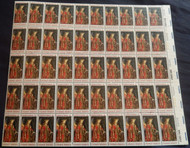 #1363 6c Christmas angel Gabriel, F-VF NH or better,  FULL SHEET, post office fresh, STOCK PHOTO