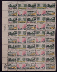 #1365-1368 6c Beautification, F-VF NH or better,  FULL SHEET, post office fresh, STOCK PHOTO