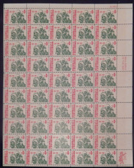 #1382 6c College Football, F-VF NH or better,  FULL SHEET, post office fresh, STOCK PHOTO