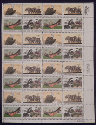 #1387-90 6c Natural History, F-VF NH or better,  FULL SHEET, post office fresh, STOCK PHOTO