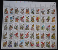 #1953 - 2002 Birds and Flowers - complete sheet **Stock Photo - you will receive a comparable sheet**