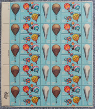 #2032-2035 20c Balloons, VF OG NH, Full Sheet, Post Office Fresh, STOCK PHOTO!
