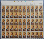 #2044 20c Scott Joplin, VF OG NH, Full Sheet, Post Office Fresh, STOCK PHOTO!