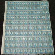 # 637 F/VF OG NH, fresh sheet of 100, Nice