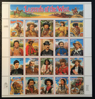 #2869, 29c Legends of the West,  Sheet, STOCK PHOTO