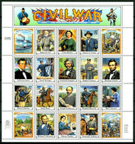 #2975, 32c Civil War,  Sheet, STOCK PHOTO