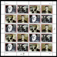 #3061 - 64, 32c Pioneers of Communications,  Sheet, STOCK PHOTO