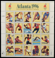 #3068, 32c Olympic Games,  Sheet, STOCK PHOTO