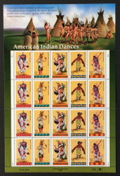 #3072 - 76, 32c American Indians,  Sheet, STOCK PHOTO