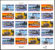 #3091 - 95v, 32c Riverboats, special die cut,  Sheet, STOCK PHOTO