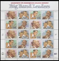 #3096 - 99, 32c Big Band Leaders,  Sheet, STOCK PHOTO