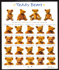 #3653 - 56, 37c Teddy Bears,  Sheet-Stock Photo - you will receive a comparable stamp