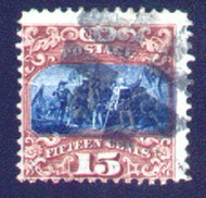 # 119 Fine,  terrific colors, nice cancel