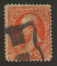 # 149 F/VF,  fancy 'H' cancel, slightly toned,  still nice