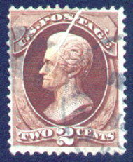 # 157 F/VF, paper fold, fresh stamp with nice fold, Neat