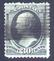 # 165 F/VF, good color, minor perf flaw,  nice for the price