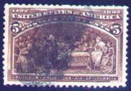 # 234 SUPERB, used, nice stamp, slightly short perf