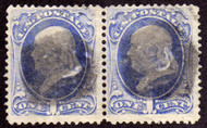# 145 F-VF, used pair, Nice item, small crease