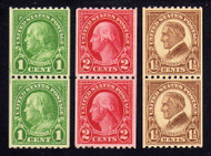 # 604 - 606 F/VF OG NH, Nice Set of Pairs! (Stock Photo - You will receive a comparable stamp)