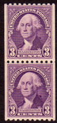# 722 F/VF OG NH Pair, Nice and Bold! (Stock Photo - You will receive a comparable stamp)