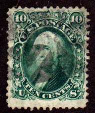 #  68 F/VF used, Lighter cancel, Minor flaws