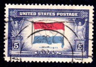 # 913a VF, reversed colors,  well centered, very nice!