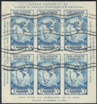 # 735 VF, Byrd Sheet, nice cancels