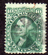 #  68 F/VF, nice large stamp with light cancel and terrific color
