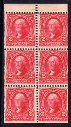 # 301c F/VF OG NH, fresh booklet pane, better centering than usual on these early panes. Nice
