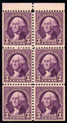 # 720b VF/XF OG NH, booklet pane,  Very Nice!