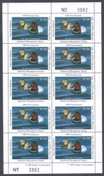 #STATE DUCK, PA no. 8 VF NH, 2 IMPERF BETWEEN ERRORS,  Complete Sheet, Unlisted!  VERY RARE!