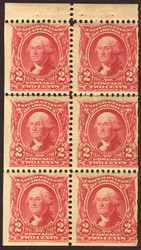 # 301c F/VF OG LH, Booklet Pane, Scarce this nice, Very nice for this issue