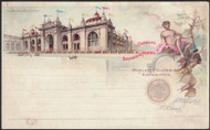 #UX 10 mint, Mines Building on Columbian Expo Card, some toning