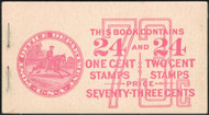 # 632a, 634d BK79 73c Combo, Post Office Fresh, complete book, VF NH