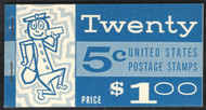 #1213a BK112 $1.00 Book, w/PSE (09/02) CERT,  HIGHBRIGHT PAPER, Post Office Fresh, complete book, VF NH