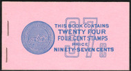 #1036a BK109 97c Book, Post Office Fresh, complete book, VF NH