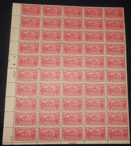 # 644 2c Burgoyne, Full Sheet of 50, VF OG NH, see photo for margin, Well Centered Sheet!  Brookman Sheet Value $350