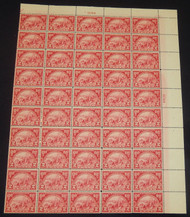 # 615 2c Huguenot / Walloon, strong F/VF OG NH, Full Sheet of 50, Post office fresh!,   Tough sheet to find this nice,  CHOICE!