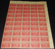 # 644 2c Burgoyne, F/VF OG 45 stamps NH, 5 bottom stamps hinged, plus hinges in margins,  Full Sheet of 50, Fresh Color