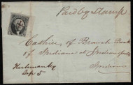 """#   2 on cover from Kentucky, Only recorded use with """"Hickman, Ky  Sept 5"""" and """"Paid by Stamp"""" manuscript cancel, w/PF (07/99) Certificate,  stamp with sheet margin at right, small faults,  Very Scarce and Unique Usage!"""