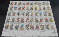 #1953 - 2002 VF, Birds and Flowers, complete sheet, many have minor flaws due to its size, Fresh!